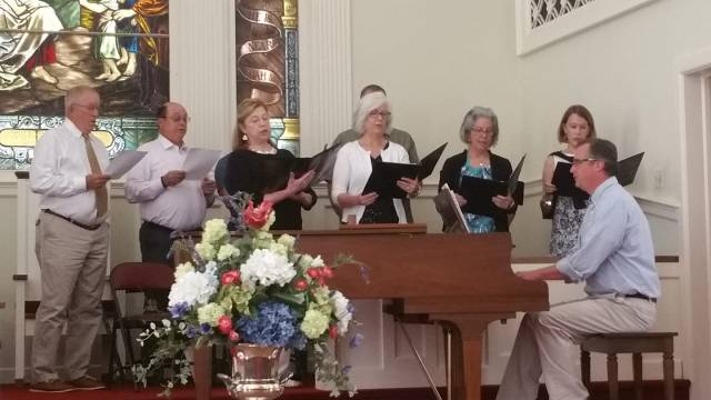 Choir in original setting